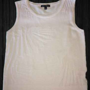 Cable and Gauge S/P White Sleeveless Shirt